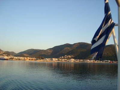 Гърция, флаг, ферибот